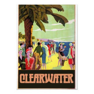 Clearwater Florida 13 Cm X 18 Cm Invitation Card