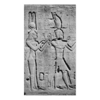 Cleopatra and Caesarion on the Temple of Hathor Pack Of Standard Business Cards