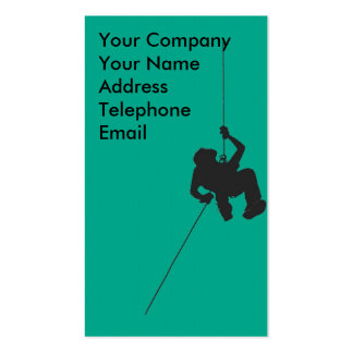 Climber Abseiling or Rappelling Pack Of Standard Business Cards