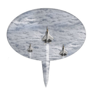 Climbing Jets in the Clouds Cake Topper
