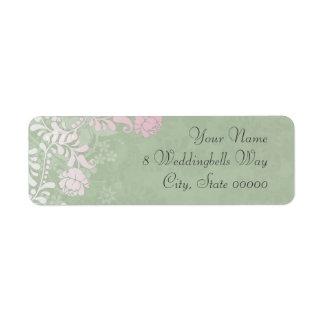 Climbing Rose Wedding Labels Custom Return Address