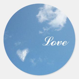 cloud heart, Love Round Sticker