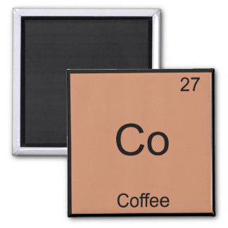 Co - Coffee Chemistry Element Symbol Funny Square Magnet