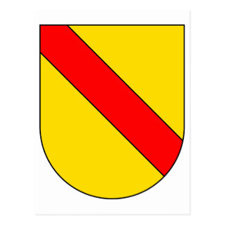 Coat Arms Baden Germany Official Symbol Heraldry Postcard