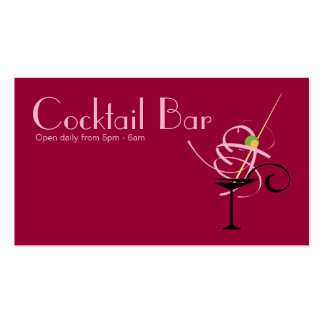 Cocktail Bar Nightclub Event Planner Pack Of Standard Business Cards
