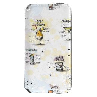 Cocktail Drink Recipe Design Incipio Watson™ iPhone 6 Wallet Case