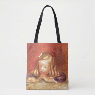 Coco at the Table (Claude Renoir Reading) 1905 (oi Tote Bag
