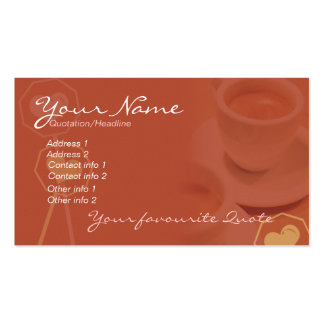 Coffee Business & Personal Card #02 Pack Of Standard Business Cards