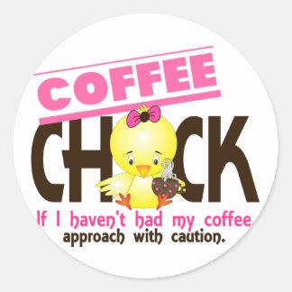 Coffee Chick 1 Round Sticker