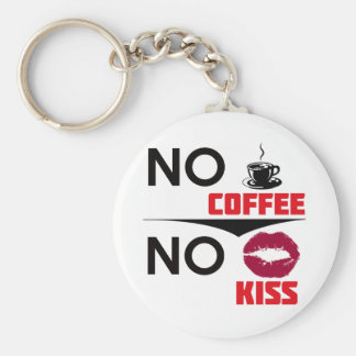 coffee design basic round button key ring