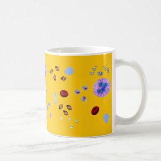 Coffee Mug-Urine Particulates (yellow background) Basic White Mug