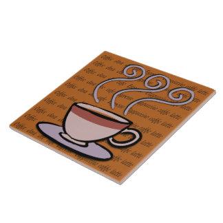 Coffee - Pastel Mug Design Tile/Trivet Large Square Tile