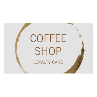 Coffee Shop Loyalty Pack Of Standard Business Cards