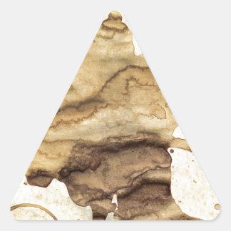 Coffee spills - Cool hand-made coffee spill design Triangle Sticker