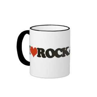 Coffee with rock and roll ringer mug
