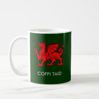 Coffi Taid - Grandad's Coffee in Welsh Basic White Mug