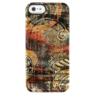 cogs and gears steampunk mechanic parts clear iPhone SE/5/5s case