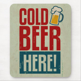 Cold Beer Mouse Pad