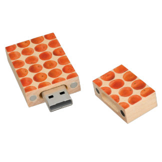 Collection of Clementines Wood USB 2.0 Flash Drive