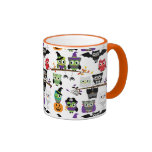 Collection Of Spooky Halloween Owls Ringer Mug