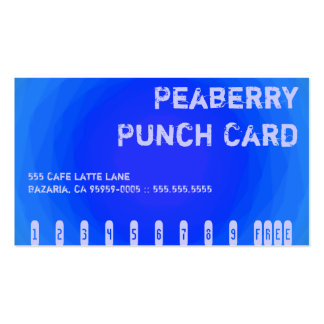Color Contrast Crazy Coffee Vortex Punchcard Pack Of Standard Business Cards