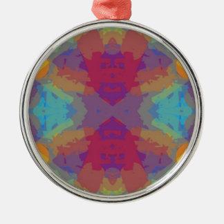 Color Crazy Silver-Colored Round Decoration