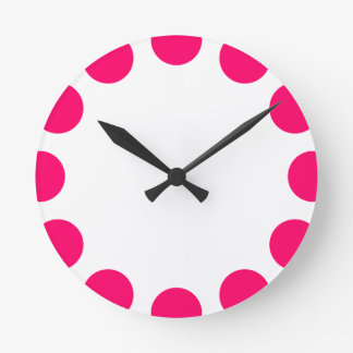 Color Crescent - Neon Red with White Wallclocks