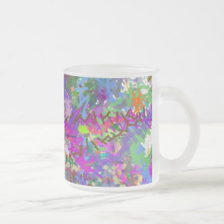 Color Maze Sissy Girl Camo Colorful Girly Abstract Frosted Glass Mug