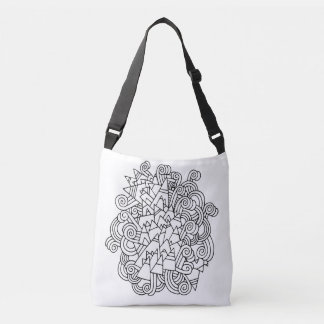 Color Me Abstract DIY Doodle Tote Bag