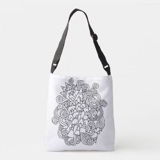 Color Me Abstract Doodle DIY Tote Bag