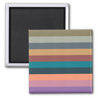 color stripes in colorful pastel square magnet