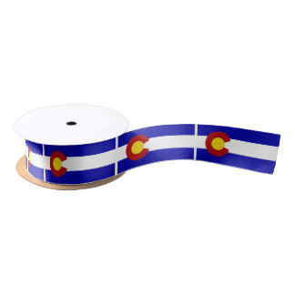 Colorado flag satin ribbon