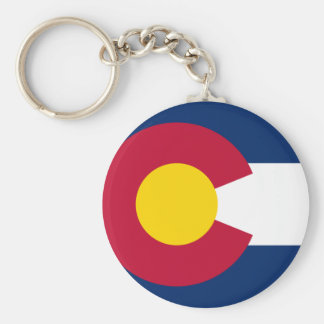 Colorado State Flag Basic Round Button Key Ring