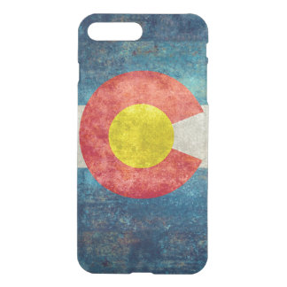 Colorado State flag with vintage retro grungy look iPhone 7 Plus Case
