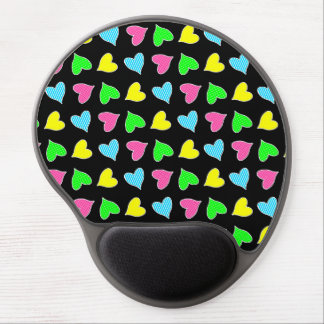 Colored Hearts Gel Mouse Pad