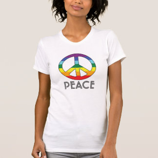 Colored Peace Sign for Flower Power Girls Tee Shirt