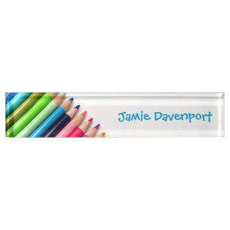 Colored Pencils Nameplate