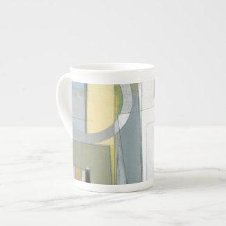 Colorful Abstract Geometric Shapes Bone China Mug