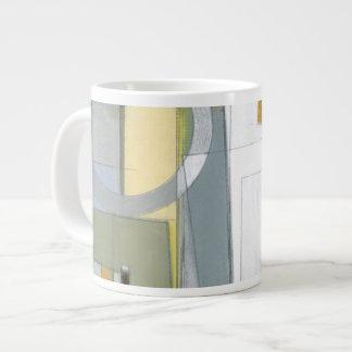 Colorful Abstract Geometric Shapes Jumbo Mug