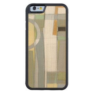 Colorful Abstract Geometric Shapes Maple iPhone 6 Bumper Case