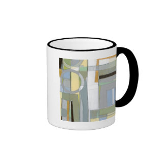 Colorful Abstract Geometric Shapes Ringer Mug