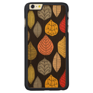 Colorful Abstract Leafs Over Changeable background Carved® Cherry iPhone 6 Plus Case