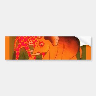 Colorful  African wild animal safari colors Bumper Sticker