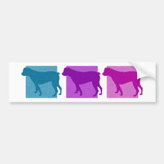 Colorful American Bulldog Silhouettes Bumper Sticker
