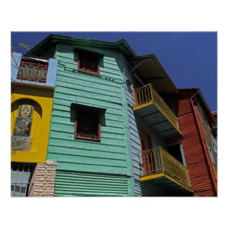 Colorful architecture of La Boca neighborhood Poster