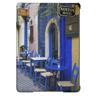 Colorful Blue doorway and siding to old hotel in iPad Air Covers