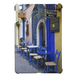 Colorful Blue doorway and siding to old hotel in iPad Mini Cases