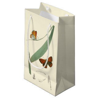 Colorful Butterflies Fluttering Around a Leaf Small Gift Bag