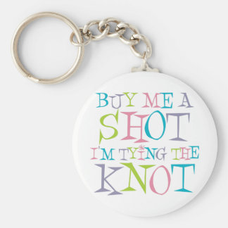 Colorful Buy Me A Shot Basic Round Button Key Ring