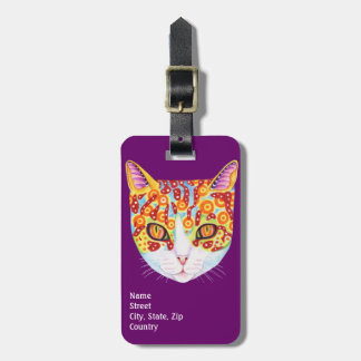 Colorful Cat Luggage Tag - Customize it!